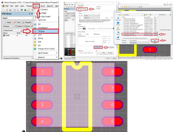 Công cụ hỗ trợ tạo nhanh thư viện trong Altium Designer: Schematic