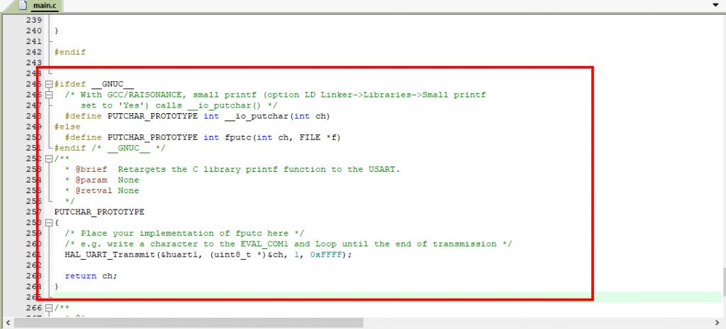 Hướng dẫn retarget/redirect hàm printf để sử dụng cho UART
