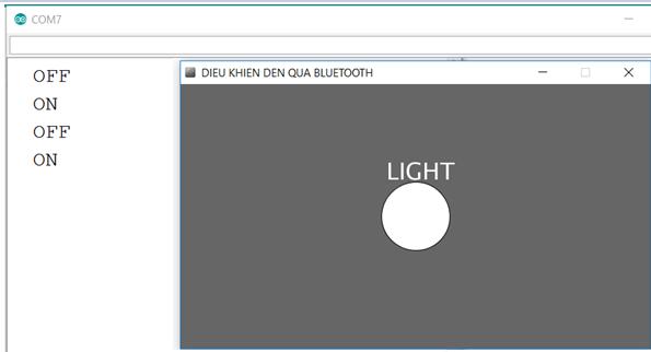 Điều khiển thiết bị qua bluetooth laptop sử dụng phần mềm processing